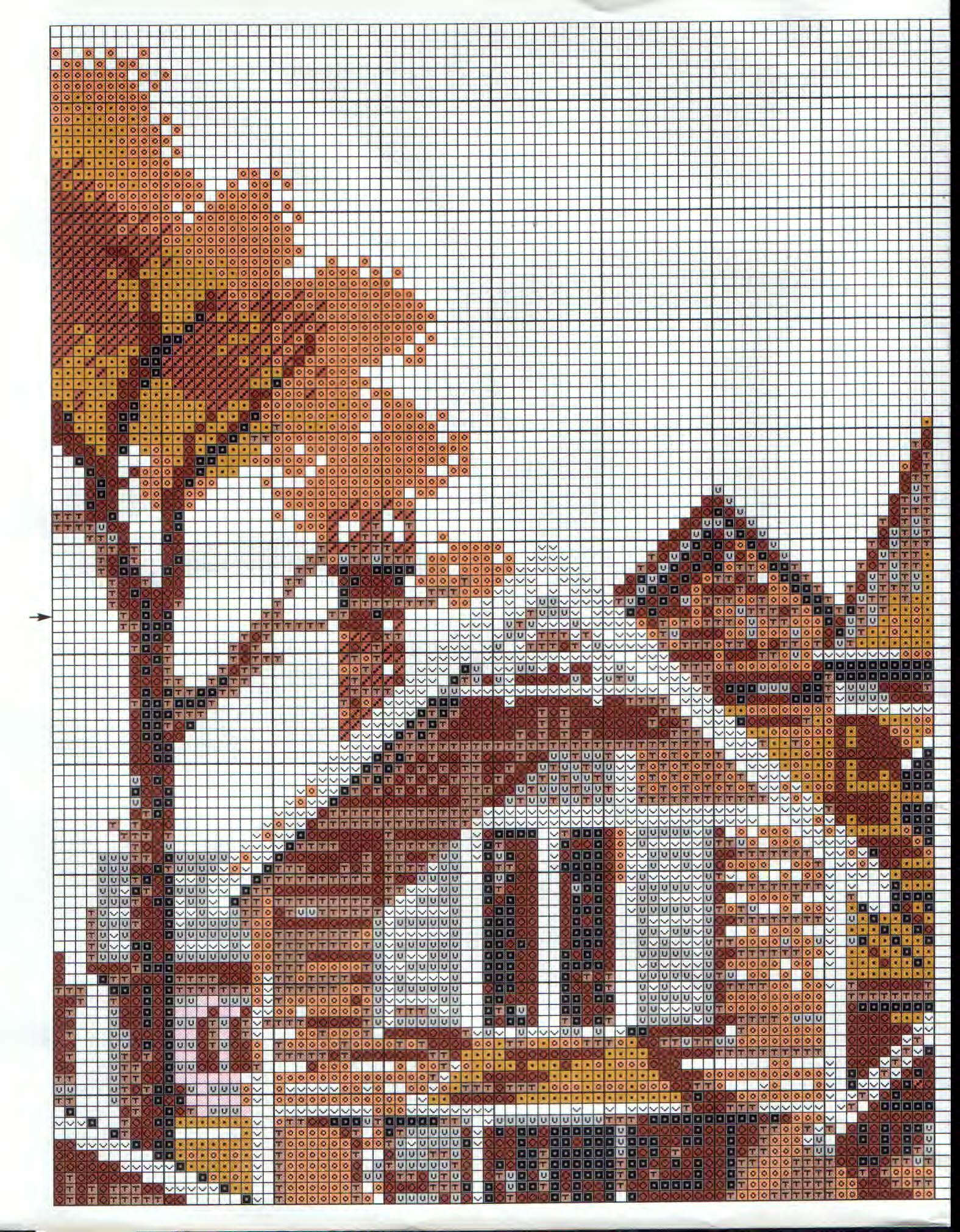 Схема вышивки риолис пейзажи 32