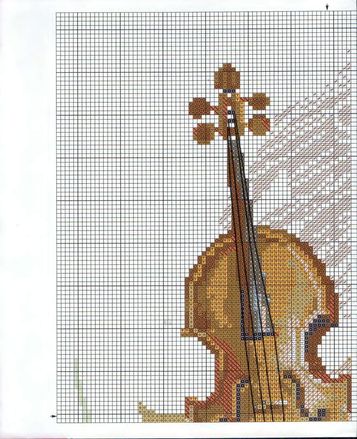 Вышивка крестом вышивка скрипка 22